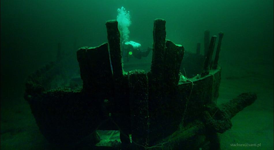 Wrak drewnianego żaglowca Łeba fot. Tomasz Stachura divers24.pl
