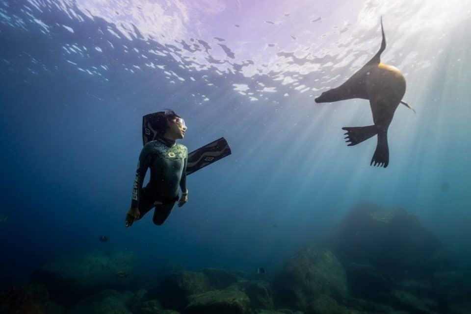 Rekordzistka swiata w nurkowaniu jaskiniowym freediving