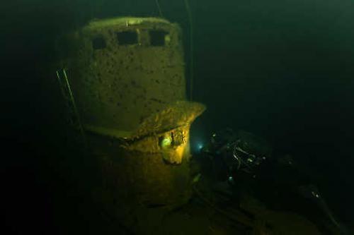 Wrak sowieckiej łodzi podwodnej