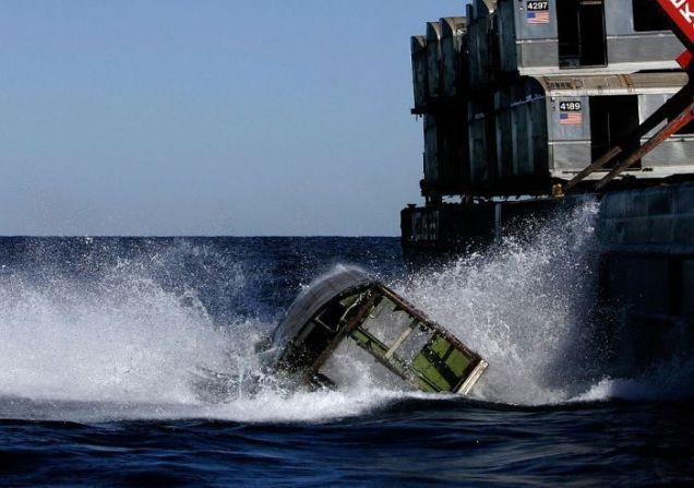 Podwodne wysypisko wagonów