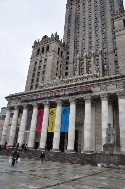 Wejście do Pałacu Kultury