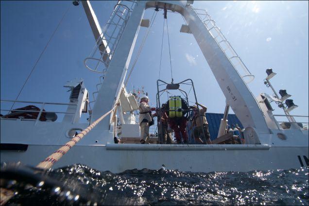 Winda nurkowa na statku IMOR