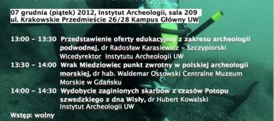 Dzień otwarty archeologii podwodnej na Uniwersytecie Warszawskim