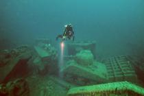 Zatopione wraki czołgów Sherman z II WŚ