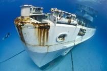 Sztorm przesunął wrak USS Kittewake