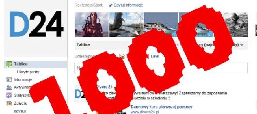 1000 fanów na facebooku i konkurs w Divers24