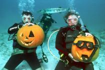 Wycinanie halloweenowych dyń… pod wodą?!