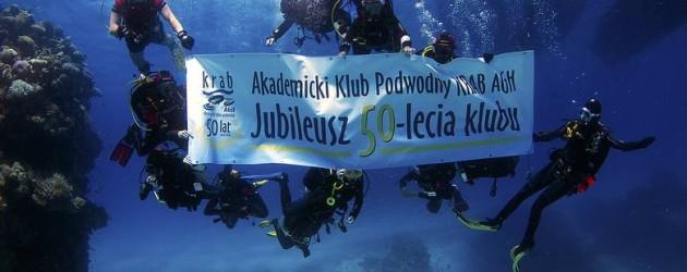 """Jubileusz 50-lecia Akademickiego Klubu Podwodnego """"Krab"""" AGH"""