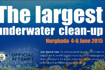 Rekordowe sprzątanie w Hurghadzie – 400 nurków pod wodą!