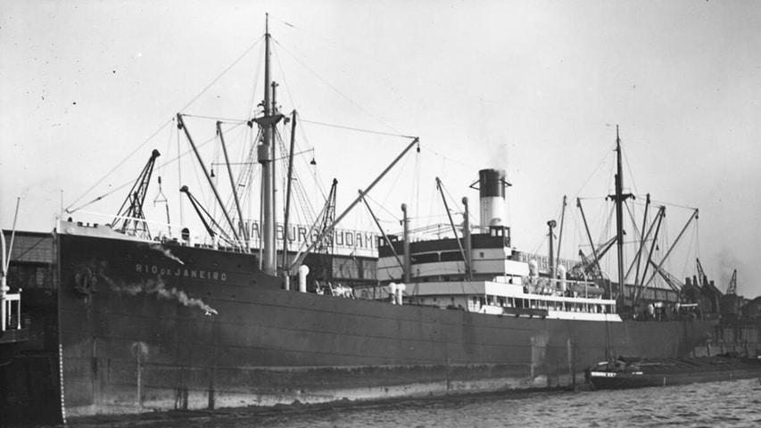 Statek MS Rio de Janeiro zatopiony w 1940 roku