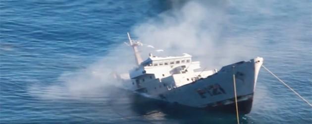 W Kaliforni Dolnej zatopiono okręt meksykańskiej marynarki – video