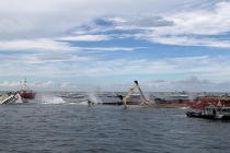 W podwodnym parku wrakowym na Florydzie zatopiono kolejną jednostkę – video