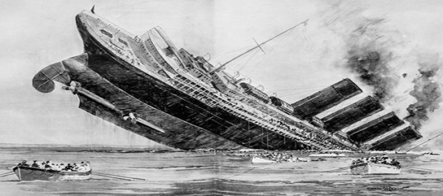 """Z wraku transatlantyku RMS """"Lusitania"""" wydobyto telegraf"""