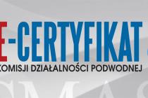 E-certyfikat w Komisji Działalności Podwodnej CMAS