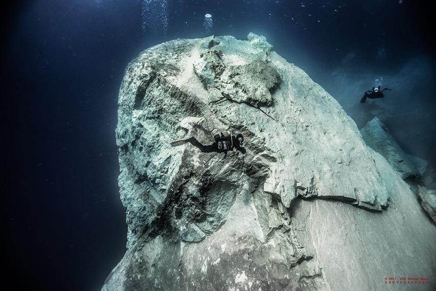 Formacja skalna pod wodą Gozo