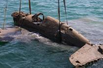 """Wrak samolotu P-40 """"Kittyhawk"""" wydobyty z Morza Czarnego – video"""