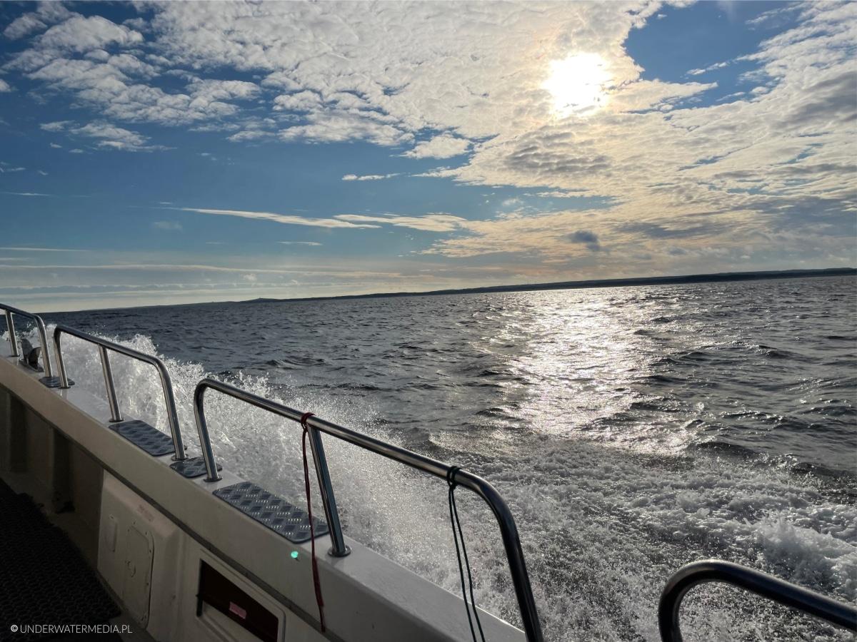 Koniec dnia nurkowego na Bałtyku
