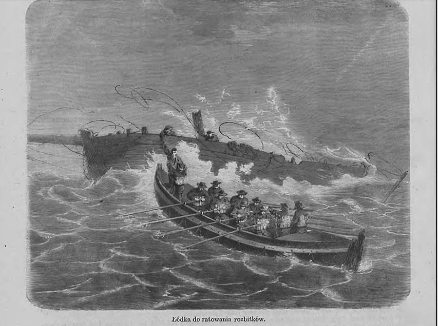 1. Lifeboat z czasopisma Wędrowiec 1866 r