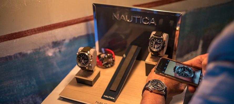 Automatyczny Skeleton na ćwierćwiecze zegarków Nautica