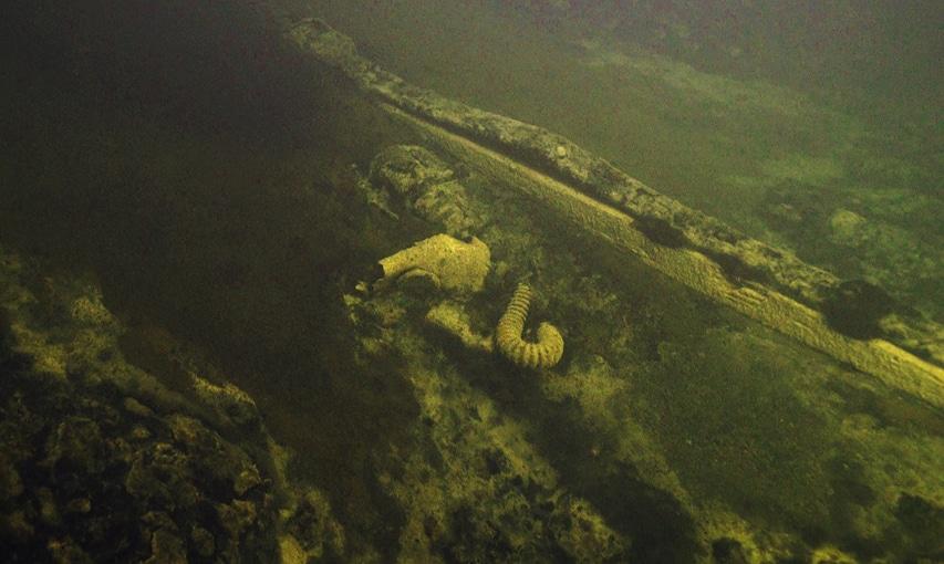 Zdjęcie wraku niszczyciela Kalinin