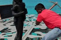 Na Malediwach policja zniszczyła podwodne rzeźby