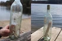 List w butelce znaleziony podczas nurkowego sprzątania…