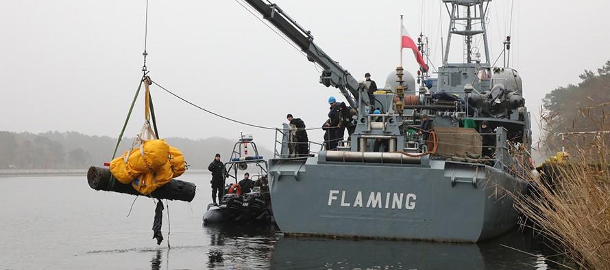 Wydobyto minę morską z czasów II wojny światowej