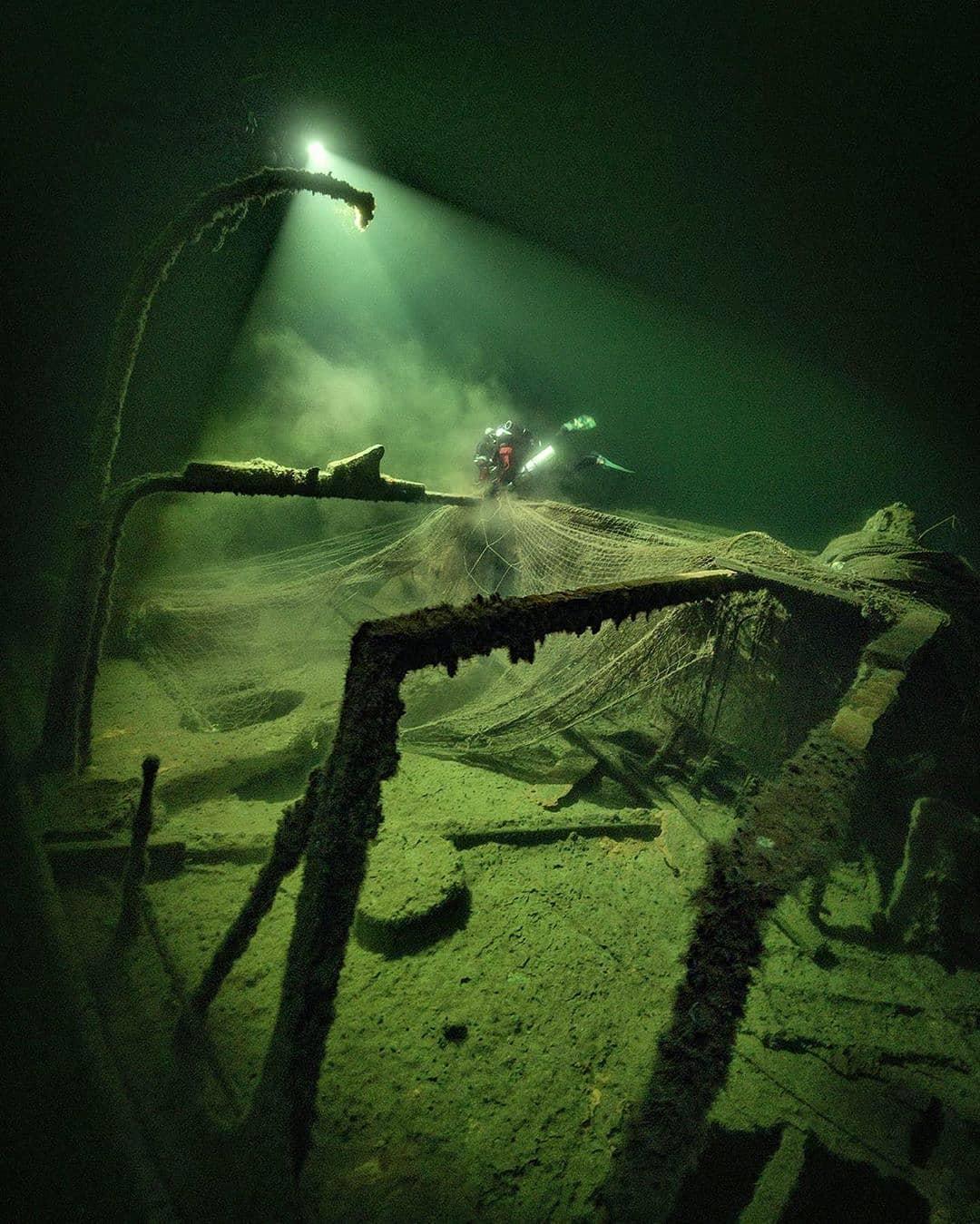 nurek na wraku parowca SS Hispania divers24.pl