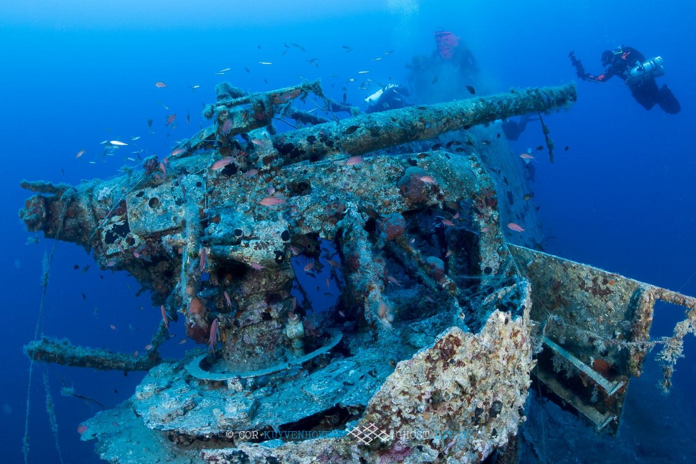 działo na wraku okrętu podwodnego