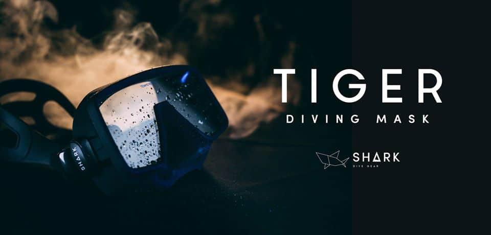 maska nurkowa tiger shark dive gear divers24.pl