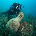 starożytna amfora na dnie Adriatyku divers24.pl