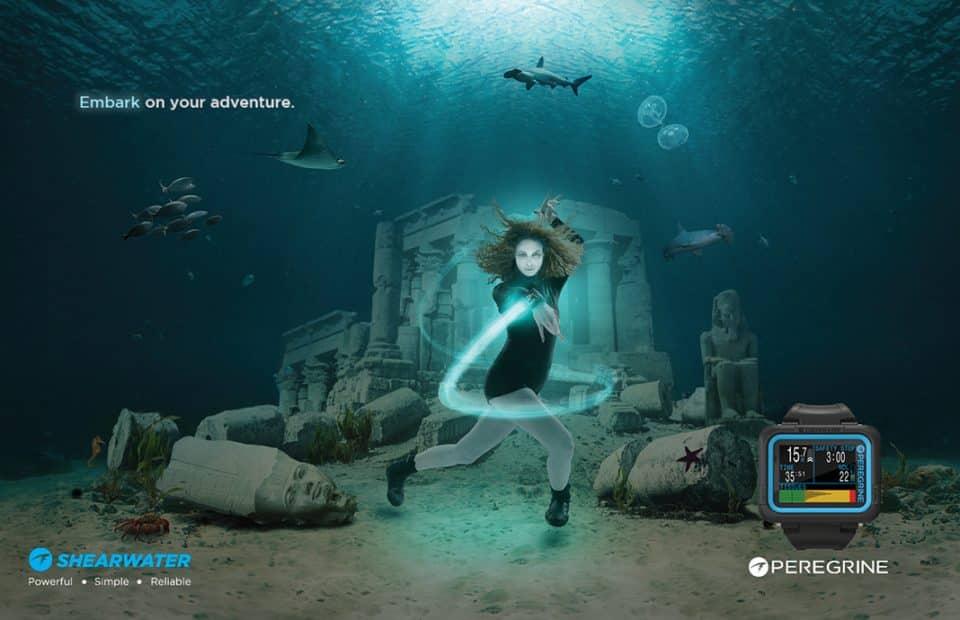 nowy komputer nurkowy Shearwater peregrine divers24.pl