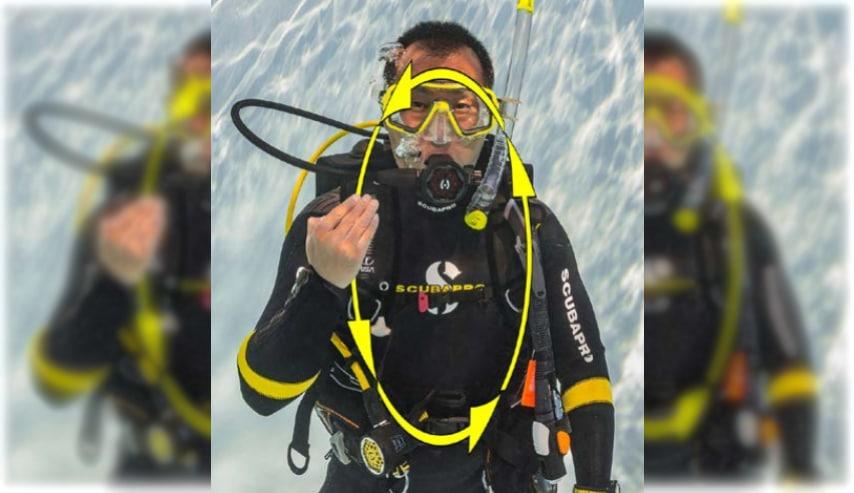 znak nurkowy PADI źle się czuję divers24.pl