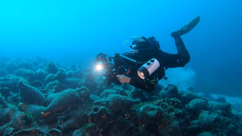 pierwsze podwodne muzeum w Grecji amfory