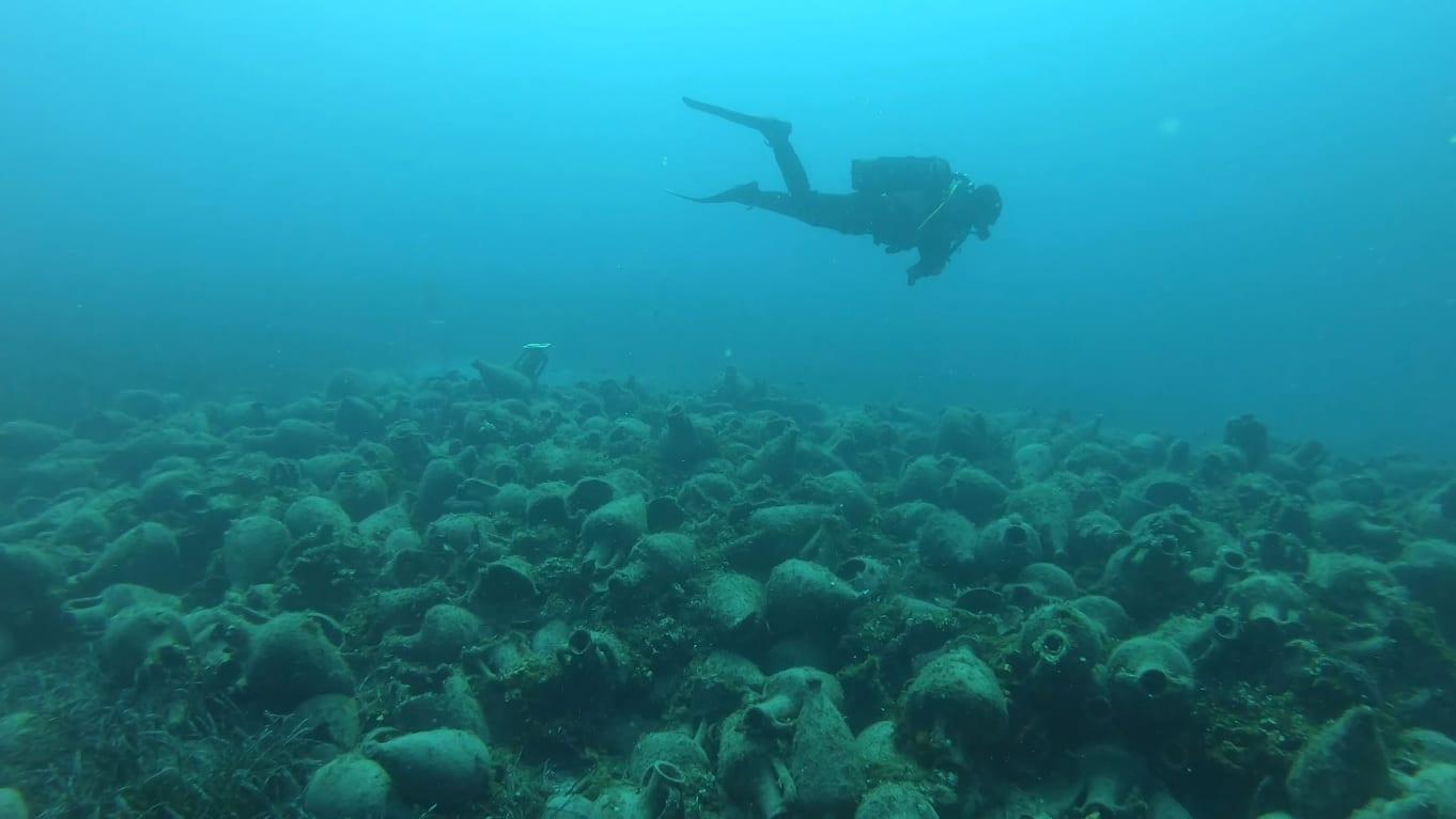 zatopione amfory podwodne muzeum Grecja Alonissos