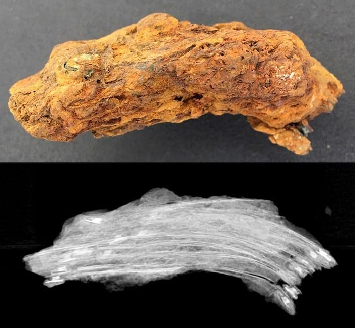 artefakt z wraku zdjęcie rentgenowskie divers24.pl