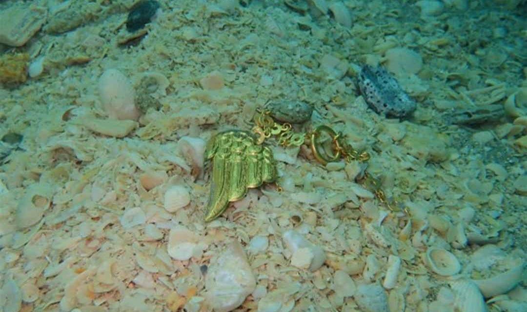 Złote skrzydło odnalezione na morskim dnie 1715fleetsociety divers24.pl