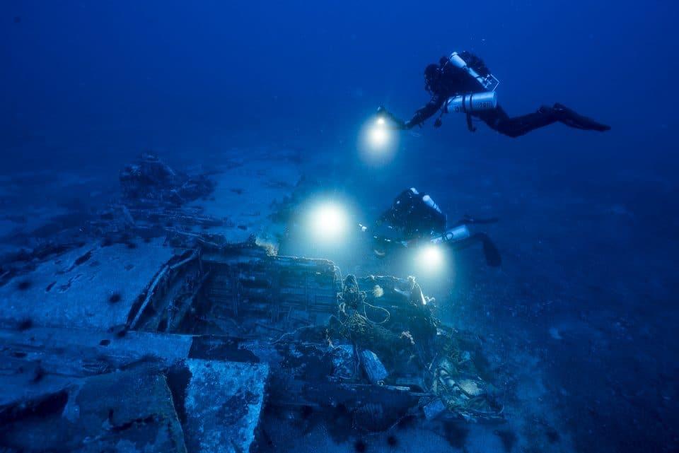 Wrak samolotu nurkowanie Malta divers24.pl