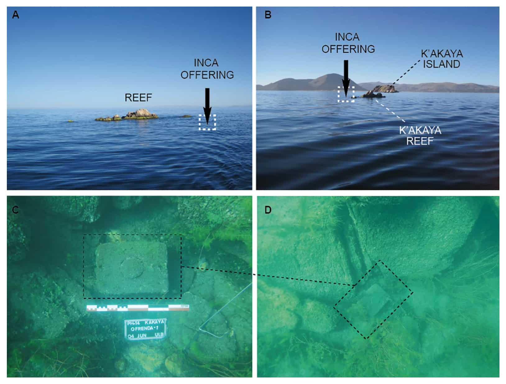 Depozyt ofiarny zatopiony z jeziorze Titicaca divers24.pl