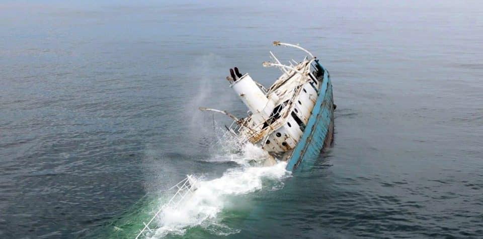 Statek Reedville nowa sztuczna rafa Delawere divers24.pl