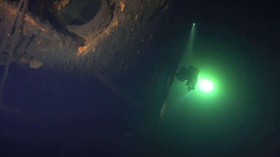 Wrak szkoleniowego okrętu podwodnego U-649 divers24