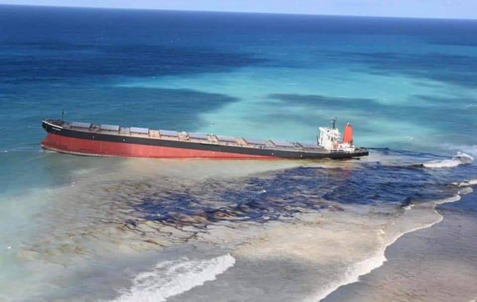 Wyciek oleju z MV Wakashio divers24.pl