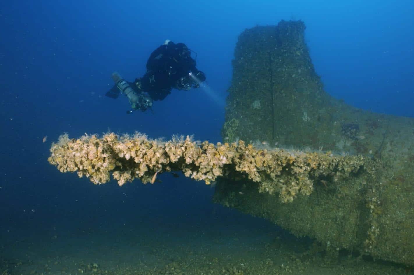 wrak Douglas A-1 Skyraider divers24.pl
