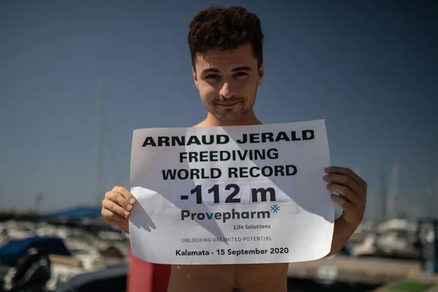 Rekordzista świata Arnaud Jerald 112 m CWTB divers24.pl