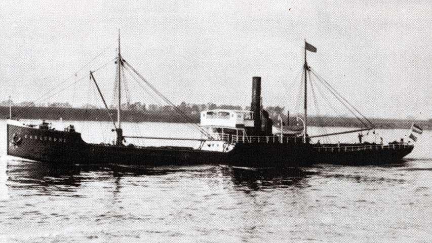 Archiwalne zdjęcie parowca SS Karlsruhe