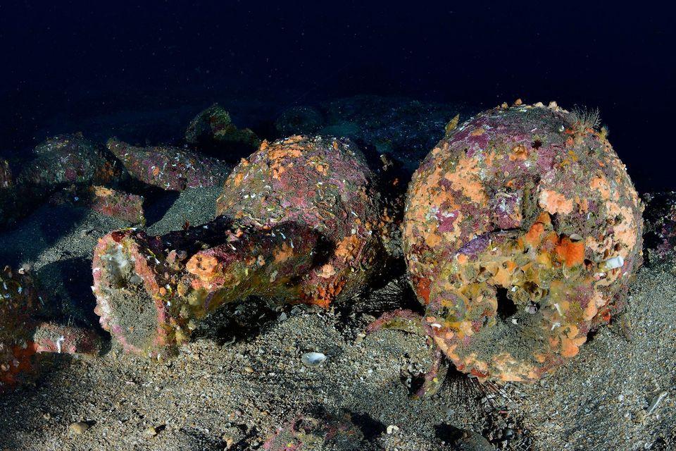 dwa starożytne wraki Włochy divers24.pl