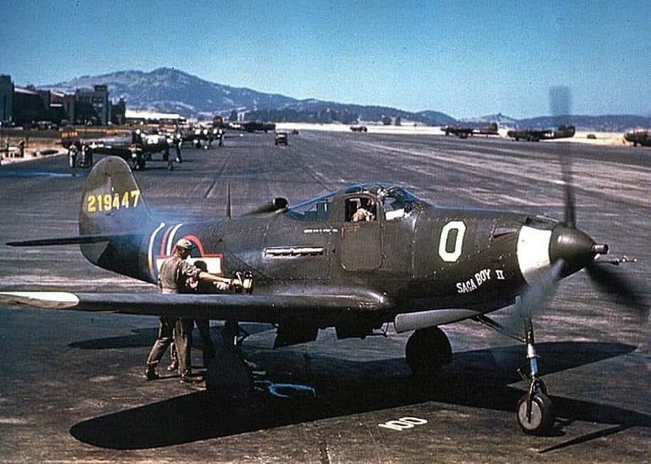 Zdjęcie archiwalne myśliwca Aircobra