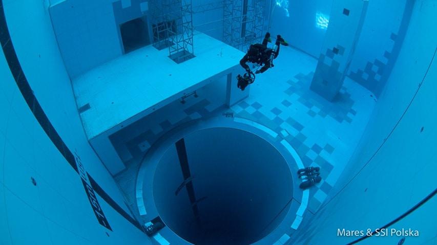Nurkowanie Deepspot najgłębszy basen na świecie