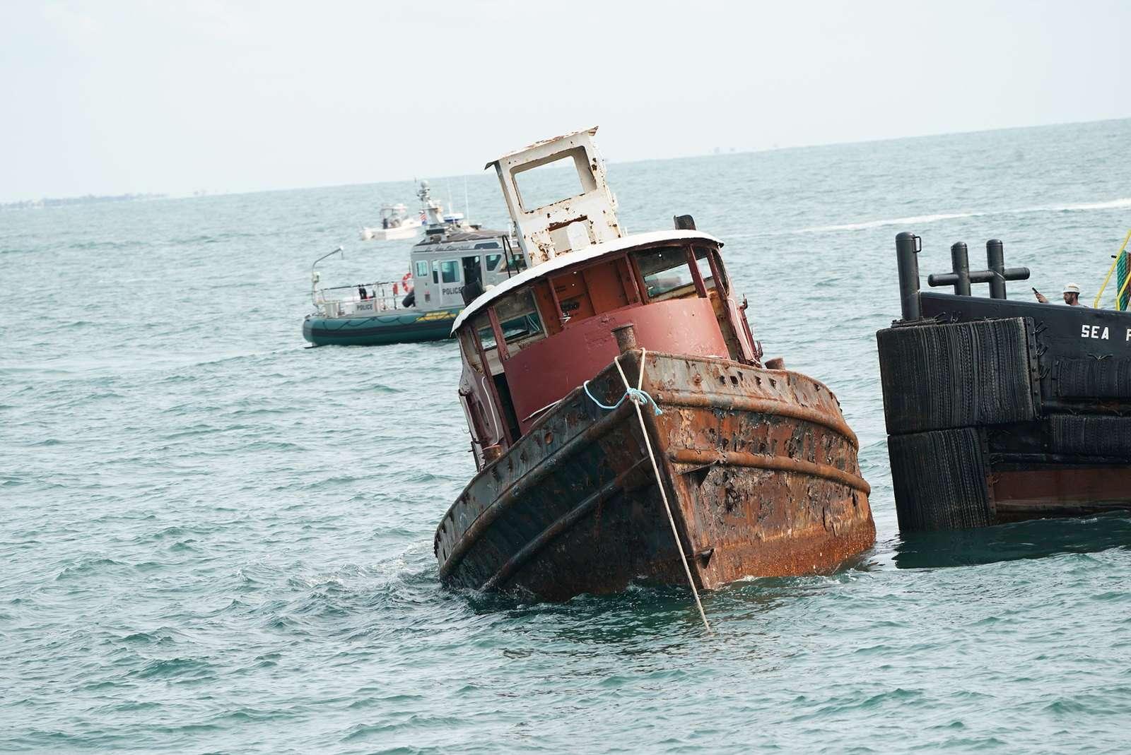 holownik przeznaczony do zatopienia Nowy Jork divers24.pl