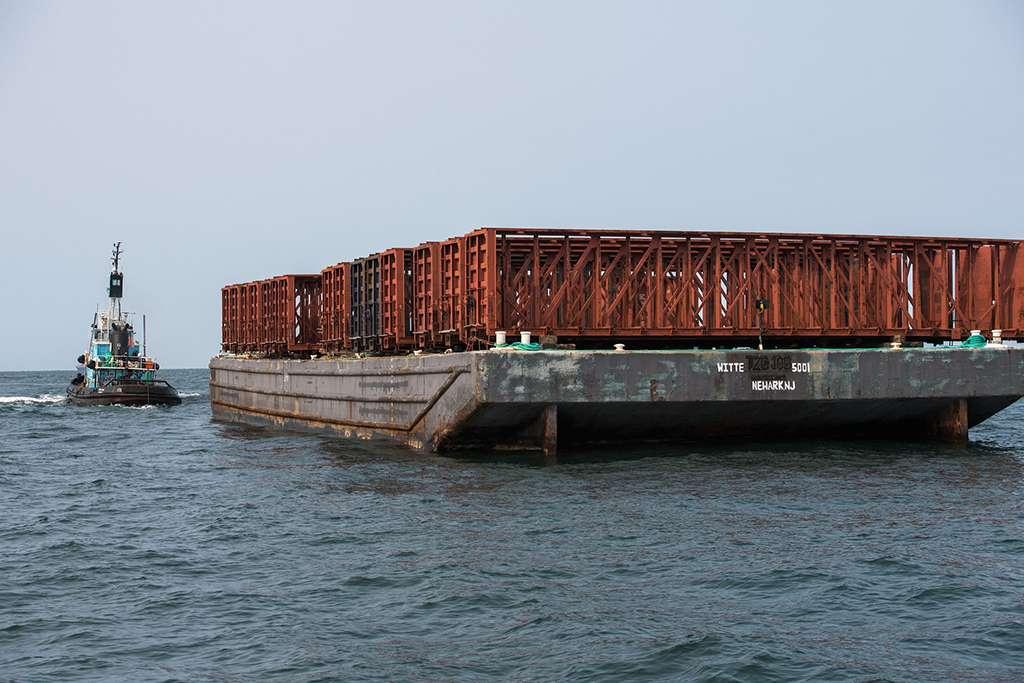 Stalowe wagony kolejowe do zatopienia Nowy Jork